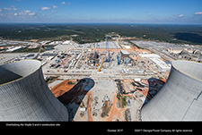 Overlooking the Vogtle 3 and construction site.