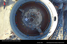 Shot from the top of Unit 4 containment vessel.