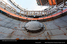 Inside Vogtle Unit 3 containment vessel