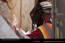 Working inside Vogtle Unit 3 containment vessel