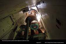 The first steam generator is placed inside the Vogtle Unit 3 containment vessel.