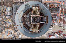 Aerial view looking inside Vogtle Unit 4 containment.