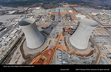 Aerial view of the Vogtle 3 and 4 construction site.
