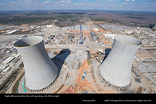 Vogtle 3&4 construction site, with operating units 1&2 on right
