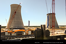 A look at the Unit 3 nuclear island from the turbine building.