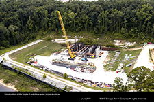 Construction of the Vogtle 3 and 4 raw water intake structure.