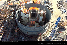 A bird's-eye view of Unit 3 containment.