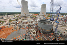 Vogtle Unit 3 nuclear island.