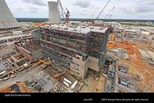 Vogtle Unit 3 turbine building.