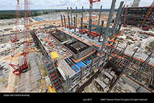 Vogtle Unit 4 turbine building.