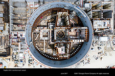 Vogtle Unit 4 containment vessel.