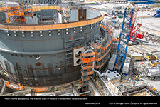 From another perspective, the massive scale of the Unit 3 containment vessel is evident.