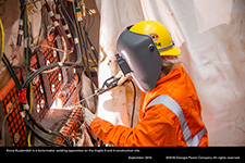 Kiona Kuykendall is a boilermaker welding apprentice on the Vogtle 3 and 4 construction site.