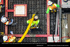 Crews complete a 71-hour 'super placement' of 1,844 cubic yards of concrete inside the Vogtle Unit 3 nuclear island.