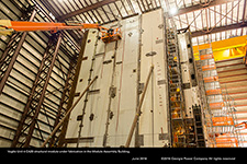 Vogtle Unit 4 CA20 structural module under fabrication in the Module Assembly Building.