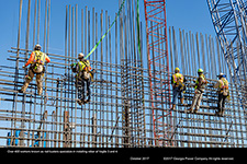 Over 400 workers known as rod busters specialize in installing rebar at Vogtle 3 and 4.