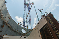 The CA05 module is set inside the Unit 4 containment building.