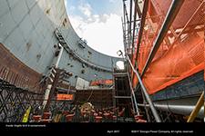 Inside Vogtle Unit 4 containment.