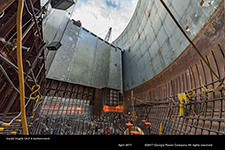 Inside Vogtle Unit 4 containment.