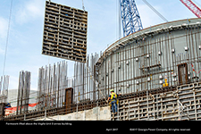 Formwork lifted above the Vogtle Unit 3 annex building.