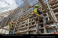 Workers place formwork for the Vogtle Unit 3 annex building.