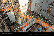 Inside Vogtle Unit 3 containment.