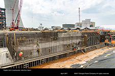 Vogtle Unit 4 wastewater retention basin.