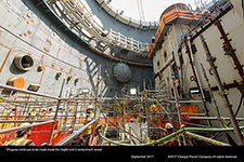 Progress continues to be made inside the Vogtle Unit 3 containment vessel.