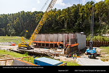 Construction of the Vogtle 3 and 4 river water intake structure continues.