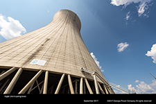 Vogtle Unit 4 cooling tower.