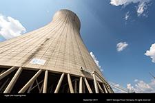 Vogtle Unit 4 cooling tower.