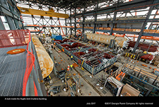 A look inside the Vogtle Unit 3 turbine building.
