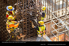 Craft employees work on rebar inside Unit 3 nuclear island.