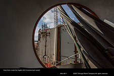 View from inside the Vogtle Unit 3 containment vessel.