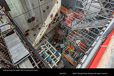 Looking inside the Vogtle Unit 3 containment vessel.