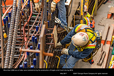 More than 3,300 tons of rebar were installed during the construction of Vogtle units 3 and 4 during 2016.