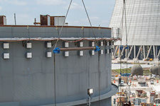 Vogtle Unit 4 shield building panel installation continues.