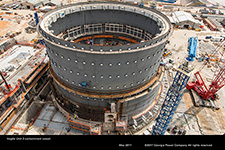 Vogtle Unit 3 containment vessel.