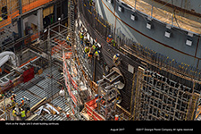 Work on the Vogtle Unit 3 shield building continues.