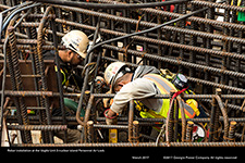Rebar installation at the Vogtle Unit 3 nuclear island Personnel Air Lock.