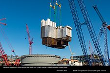 Weighing more than 2 million pounds, the Vogtle Unit 4 CA01 module is placed inside the nuclear island.