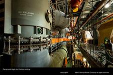 Piping inside Vogtle Unit 3 turbine building.