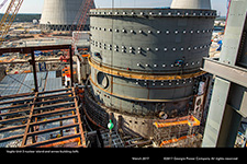 Vogtle Unit 3 nuclear island and annex building (left).