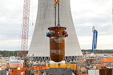 In one of the most significant milestones to date, the Vogtle Unit 3 reactor vessel is placed inside the nuclear island.